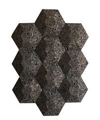 Contour Insulation Acoustical Cork Wall Tiles 3d Hexagon Jelinek